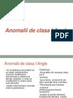 Anomalii de Clasa I Angle