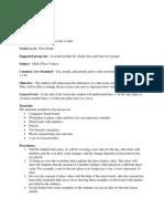final project math lesson plan