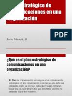 Plan Estratégico de Comunicaciones en Una Organización