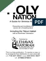 Tikkun Haklali - Holy_nation Shmiras Habris