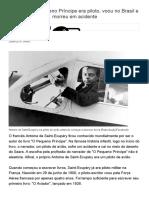 Autor de O Pequeno Príncipe Era Piloto, Voou No Brasil e Morreu Em Acidente -Todos a Bordo - UOL