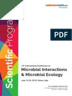 Microbial Interactions 2018 Sceintific Program