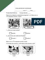 Evaluacion Sociales Primero