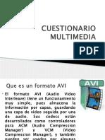 Cuestionario Multimedia