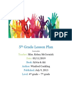 5th grade lesson plan - edu 280-1