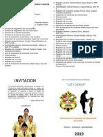 Diptico Ceremonia de Imposicion de Cordones y Baston de Mando 2019-2