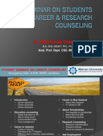 Seminar on Students Career & Research Counseling