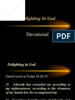 Delighting in God (Devotional)