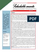 Boletín N° 5 de la mesa de salud mental de la Facultad Nacional de Salud Pública-UdeA