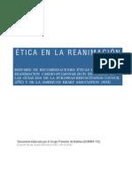 Ética en La RCP (Resumen Guías 2010 ERC y AHA)-1. Grupo Promotor Biotica SUMMA112