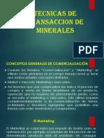 12. Tecnicas de Transaccion de Minerales