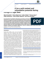 Relationship of Iso-α-Acid Content Andendogenous Antioxidative Potential Duringstorage of Lager Beer