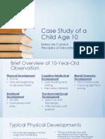 case study of a child age 10 - edu 220-1