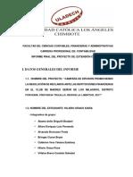 Informe Final Del Proyecto de Responsabilidad Social II