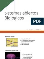 Clase 4 - Sistemas Abiertos Biológicos