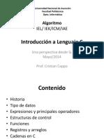 2014 05 09 Intro Lenguaje C
