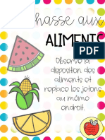 chasse aux aliments
