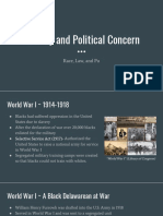 race law and public opinion with military and politics