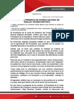 NECESARIA PRESENCIA DE GUARDIA NACIONAL EN HIDALGO