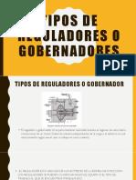 Tipos de Reguladores o Gobernadores