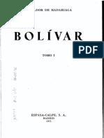 Bolívar, Tomo I - Salvador de Madariaga