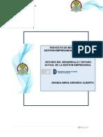 Estudio Del Desarrollo y Estado Actual de La Gestion Empresarial