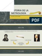 Historia de La Metrología