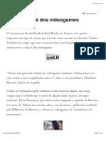 A culpa não é dos videogames