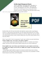 Bacalah Jika Ingin Menguasai Dunia