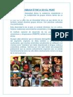 Diversidad Étnica en El Perú