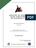 AICEG ARANCELES 2019