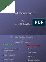 Sem Microscope for Steel