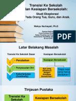 Transisi Ke Sekolah Dan Kesiapan Bersekolah Oleh Wahyu Nurhayati (1)