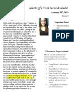 module 2 classroom newsletter