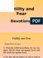 Futility and Fear (Devotional)