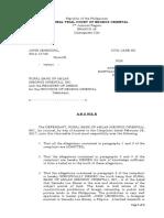 Legal Technique Answer to Complaint.docx
