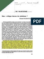 BALIBAR, Étienne - Mao - Critique Interne Du Stalinisme