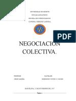 TRABAJO NEGOCIACION COLECTIVA..