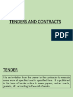 Tenders and Contracts