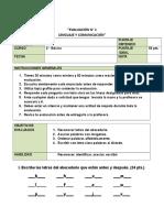 evaluacion abecedario
