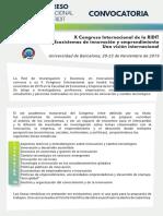 Convocatoria Ridit Barcelona 2019
