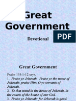Great Government (Devotional)