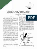 Five-Spot vs Crestal Waterflood Patterns,