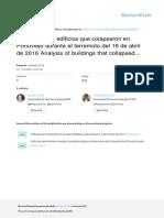 2016 Anlisis de Los Edificios Que Colapsaron en Portoviejo Durante El Terremoto Del 16 de Abril de 2016