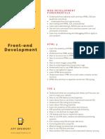 Web Dev Syllabus