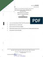 CSEC- Principles of Accounts- Paper 02- January 2002