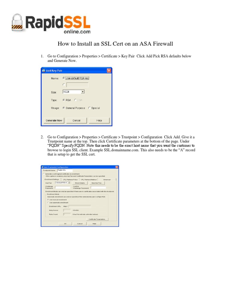 How to install an ssl certificate on an asa firewall how to install an ssl certificate on an asa firewall rapidsslonline transport layer security public key certificate xflitez Gallery