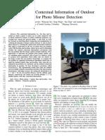 Validating the Contextual Information of Outdoor ( Detecção Por Sombra)