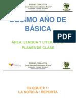 PLAN CLASE DECIMO GRADO LENGUA Y LITERATURA 2014-2015.docx