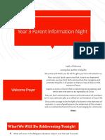 parent information night re